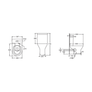 Bathroom Ceramic Sanitary ware Two Piece Close Coupled WC Toilet --SD302